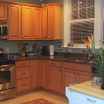 Maple kitchen and stainless appliances