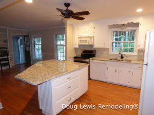 Kitchen Remodel - Custom Island with Granite Tops